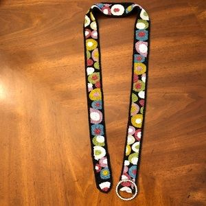 Accessories - Beaded belt with jeweled closure